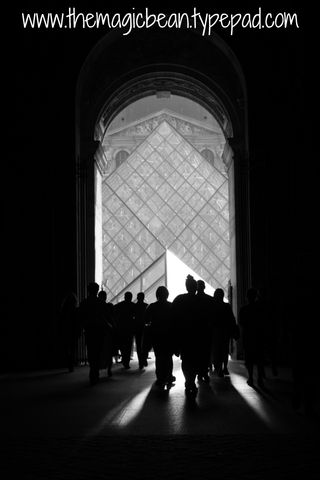 Entrance to the Louvre the magic bean