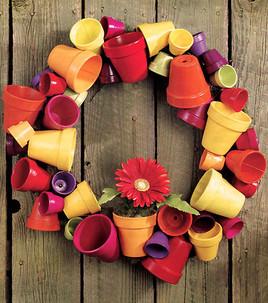 Garden pot wreath tutorial