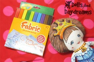 Colour an art doll with fabric markers tutorial from Dolls and Daydreams