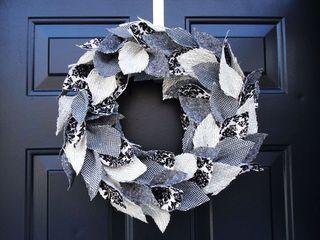 Christmas tweed wreath tutorial