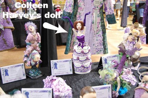 Colleen Harvey's Hoffman Challenge doll on display