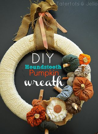 Houndstooth-Pumpkin-Wreath Tutorial by Tatertots and Jello