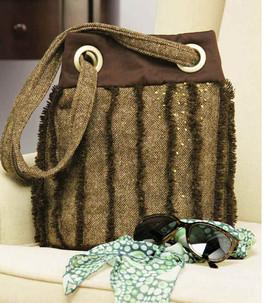 Tweed bucket purse tutorial from Loaan