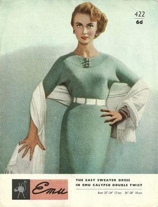 Vintage knitting image dress