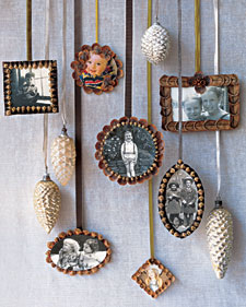 Pincone frame ornament