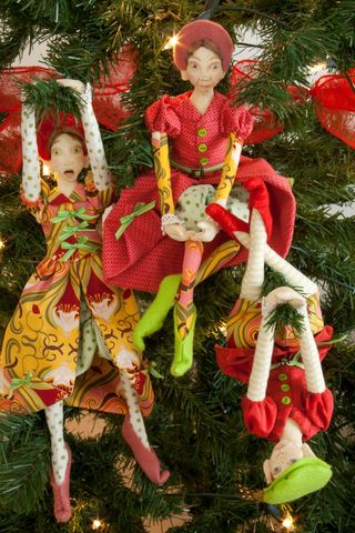 Oops a daisy christmas tree elves cloth doll class