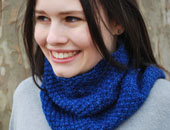 Cowl authentic knitting board loom knitting free pattern