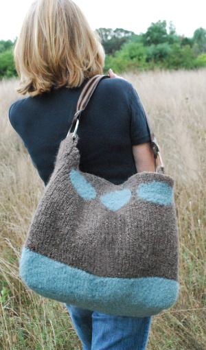 Soho felted bag free loom knitting pattern
