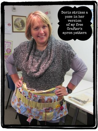 Oops a Daisy elves class Doris' apron4