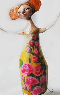 Air dry clay doll over papier mache tutorial