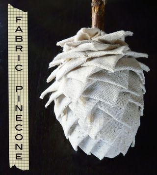 Fabric pinecone - cover