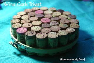 Wine cork trivet tutorial
