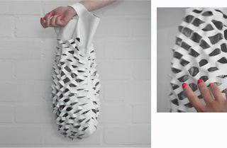 Leather net bag tutorial