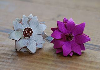 Leather flower ring tutorial