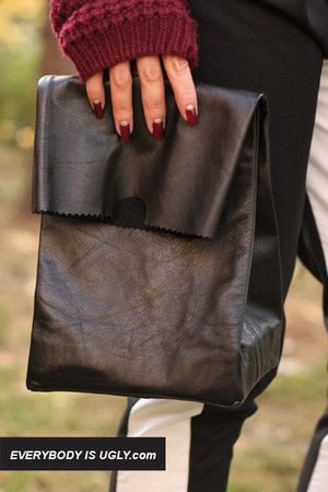 Leather lunch bag tutorial