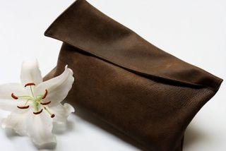 Leather clutch bag tutorial