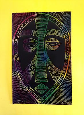 African scratch art