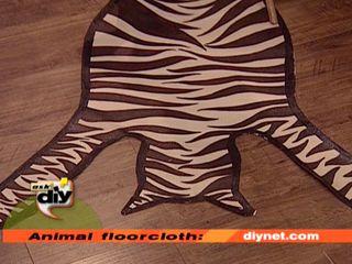 African zebra floorcloth