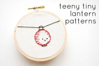 Chinese lattern embroidery
