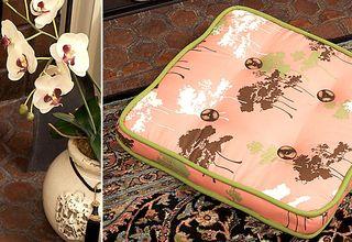 Asian boxed floor cushion