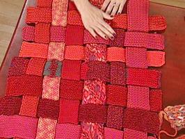 Woven woolen rug
