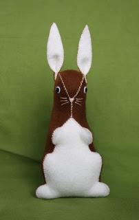 Felt rabbit 3