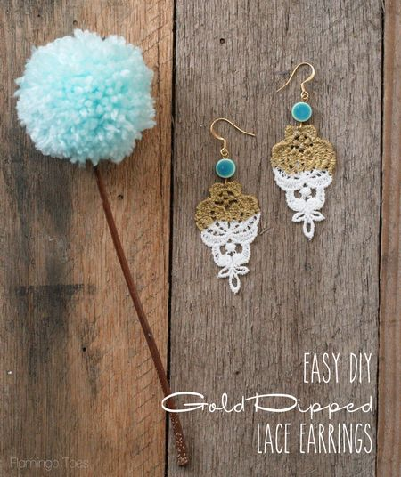 Easy-DIY-Gold-Dipped-Lace-Earrings