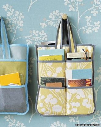 Tote bag with bias tape