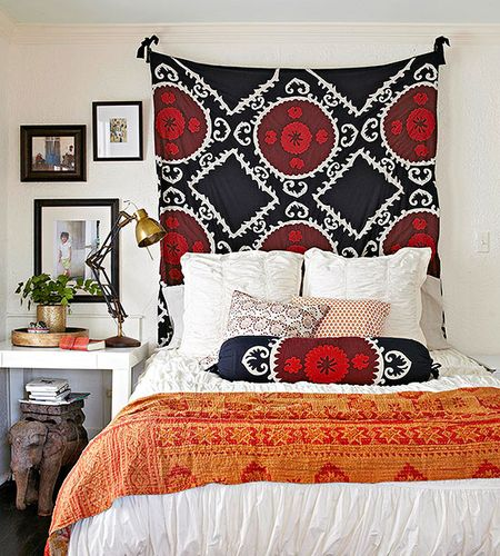 Headboard fabric hanging