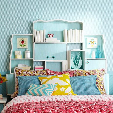 Headboard made from drawers