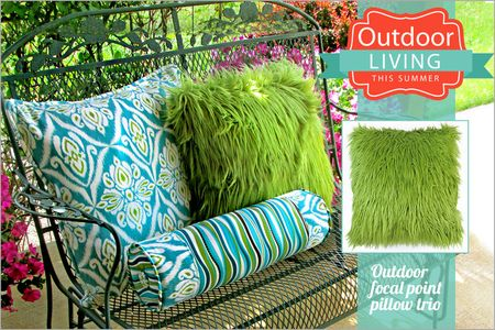 Summer sewing projects out door pillows