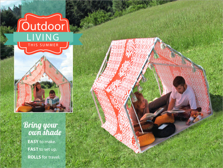 Outdoor tent diy