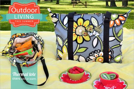 Summer sewing picnic tote