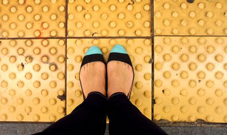 Shoe makeover colour block toes