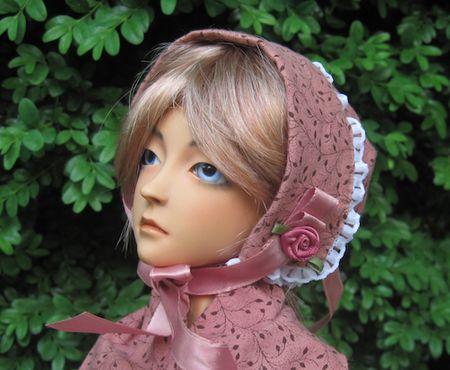 No pattern bonnet tutorial for dolls