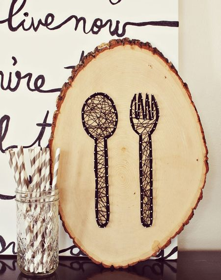 String art for the kitchen