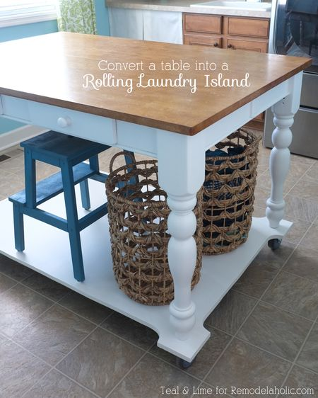 Home hack rolling-laundry-table