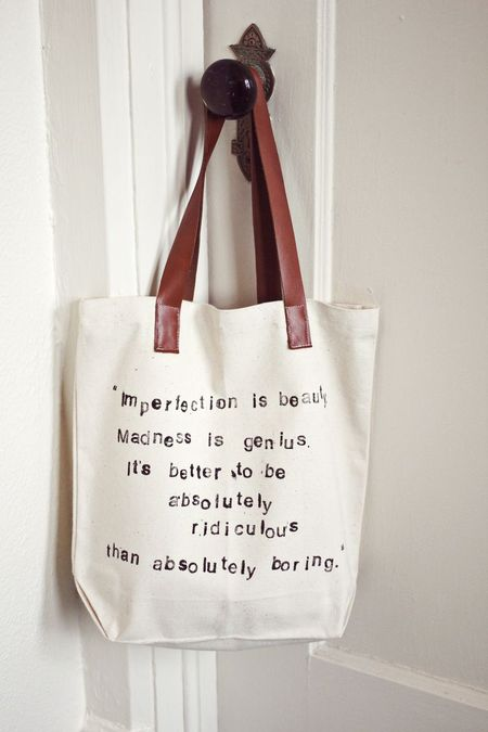 Tote quote tutorial