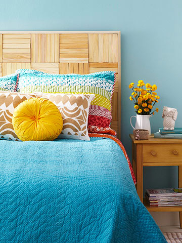 Headboard made with shims