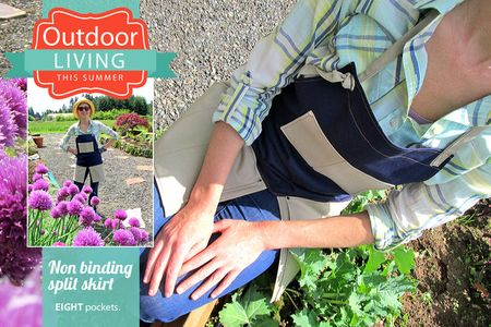 Summer sewing garden apron tutorial