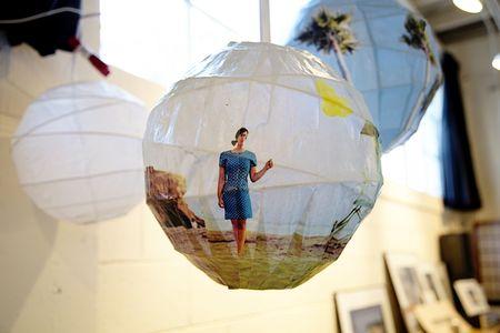Paper lanterns photo globes