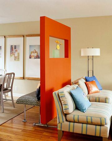 Bold wall divider