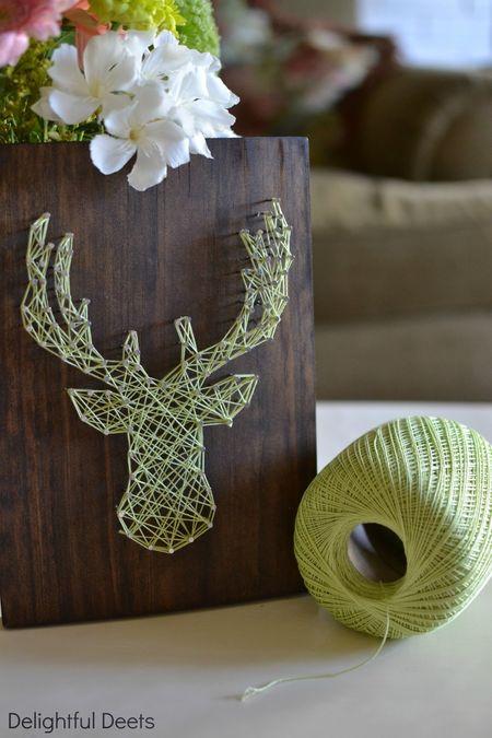 Diy+deer+string+art