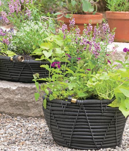 Outdoor crafts self watering pots