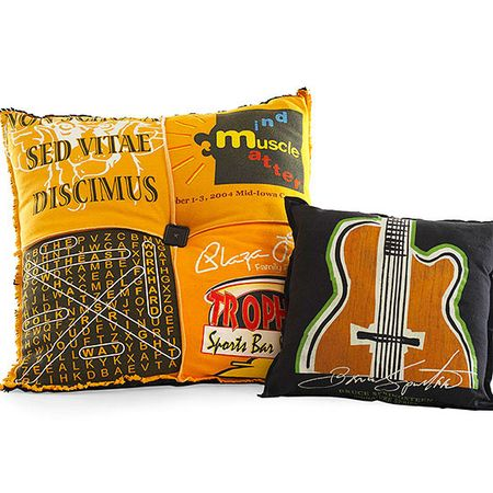 Father's day cushions from sports t-shirts