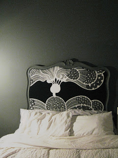 Headboard from mirror tutorial