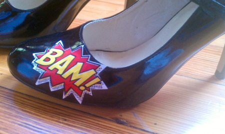 Shoe makeover superhero style tutorial